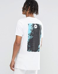 Asos Longline T Shirt With Muse Tour Print White