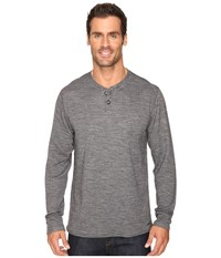 Hot Chillys Wool Double Layer Henley Charcoal Heather Men's Clothing Gray