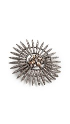 Oscar De La Renta Pave Point Hair Clip Silk