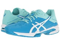 Asics Gel Solution Speed 3 Aqua Splash White Diva Blue Women's Tennis Shoes