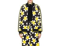 Marc Jacobs Daisy Print Jersey Track Jacket Yellow