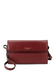 Halston Rectangle Leather Shoulder Bag Syrah
