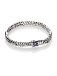 John Hardy Classic Chain Sapphire And Sterling Silver Small Bracelet