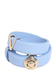 Versace Medusa Double Strap Leather Bracelet