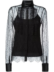 Ermanno Scervino Semi Sheer Lace Blouse Black