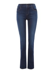 Calvin Klein Mid Rise Straight Leg Jeans Denim Dark Wash