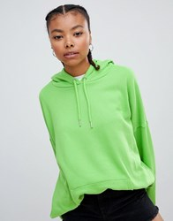 Monki Oversized Hoodie Bright Green