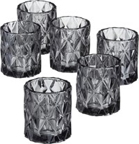 Cb2 Set Of 6 Betty Smoke Tea Light Candle Holders
