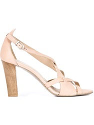 Henry Beguelin Cross Strap Sandals Nude And Neutrals