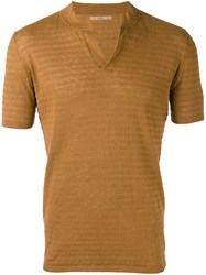 Nuur Knitted Polo Shirt Brown