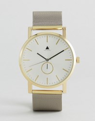Asos Watch With Mesh Strap In Silver With Gold Silver