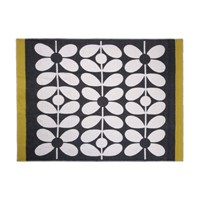 Orla Kiely Sixties Stem Throw Black