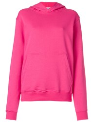Msgm Logo Hoodie Women Cotton M Pink Purple