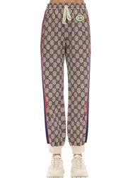 Gucci Gg Cotton Blend Jersey Pants W Patch Multicolor