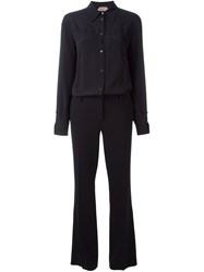 N 21 No21 Long Sleeve Jumpsuit Black