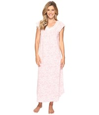 Carole Hochman Floral Knit Long Gown Bed Of Mums Women's Pajama Pink