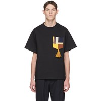 Jil Sander Black Pocket Tassel T Shirt