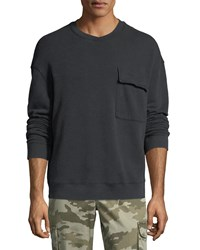 Atm Anthony Thomas Melillo French Terry Sweatshirt Charcoal