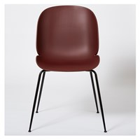 Gubi Beetle Dining Chair Un Upholstered Pink And Black