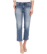 Calvin Klein Jeans Cropped Straight Jeans In Authentic Blue Authentic Blue Women's Jeans
