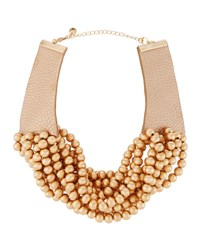 Lydell Nyc Multi Strand Beaded Torsade Choker Necklace Gold
