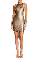 Issue New York Sleeveless Faux Leather Bodycon Dress Multi