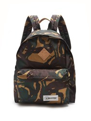 Eastpak Pak'r Camouflage Print Canvas Backpack Green Multi
