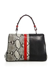 Prada Python And Crocodile Baiadera Frame Bag Black Grey