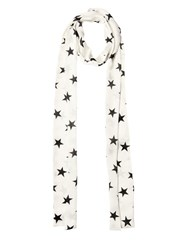 Faith Connexion Star Printed Silk Satin Scarf