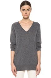 Equipment Aspen V Neck In Gray