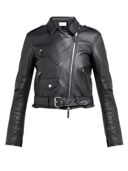 The Row Perlin Leather Jacket Black