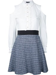 Loveless Tweed Mini Skirt Women Cotton Lyocell 9 White