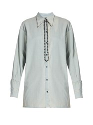 N 21 Embellished Denim Shirt