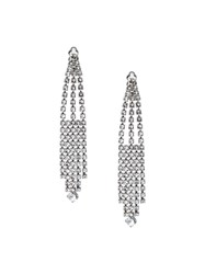 Saint Laurent Cascading Clip On Earrings Metallic