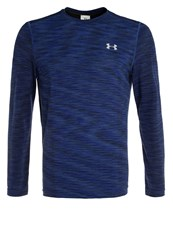 Under Armour Threadborne Long Sleeved Top Blackout Navy Steel Dark Blue