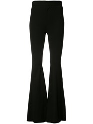 Givenchy Flared Trousers Women Spandex Elastane Viscose Polyimide 34 Black
