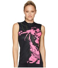 Pearl Izumi Select Escape Sleeveless Graphic Jersey Black Screaming Pink Mineral Clothing Multi