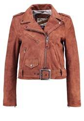 Schott Nyc Leather Jacket Brick Orange