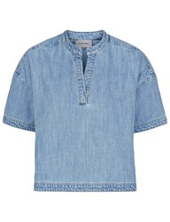 Rachel Comey Denim Loose Shirt Gabe Top Blue