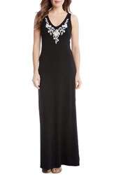 Karen Kane Women's Alana Embroidered Maxi Dress