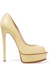 Casadei Leather Pumps Pastel Yellow