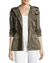 Joie Hanni B Hooded Safari Jacket Green