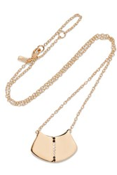 Elizabeth And James Paxton Gold Tone Crystal Necklace