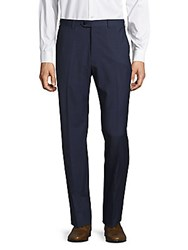 Giorgio Armani Woolen Flat Front Dress Pants Cornflower
