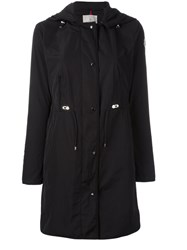 Moncler Anthemis Hooded Trench Coat Black