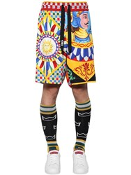 Dolce And Gabbana Allover Printed Shorts Multicolor