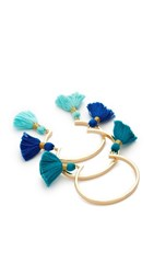 Lacey Ryan Tassel Bangle Set Of 3 Blue Multi