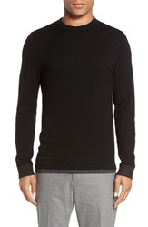 Vince Men's Crewneck Merino Wool Sweater Black
