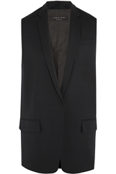 Rag And Bone Francois Wool Blend Pique Vest