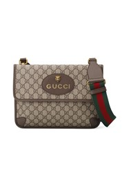 Gucci Gg Supreme Messenger Bag Canvas Nude Neutrals